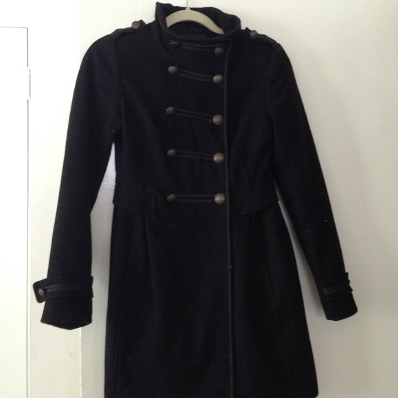 58% off H&M Outerwear - H & M military style pea coat, size 4 from ...