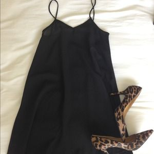Dresses & Skirts - Simple black slip dress