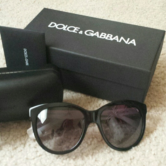 139196eef5d Dolce Gabbana Black 4149 Cat Eye Sunglasses nib