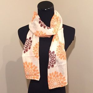 Accessories - NEW Beautiful Sheer Floral Chiffon Scarf
