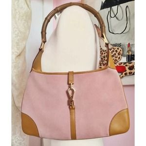 Gucci Baby Pink Suede Hobo Purse