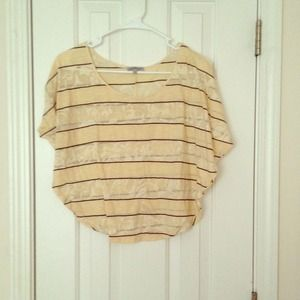 CR Ivory Butterfly Styled Top