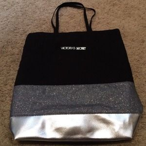 Victoria's Secret Handbags - Victoria's Secret black and silver bag