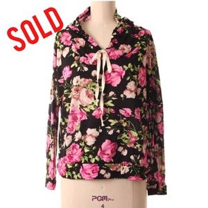 Tops - SOLD IN BUNDLE 🔻🔻🔻🔻Light Weight Floral Hoodie