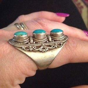 Jewelry - Silver ring with Turquoise