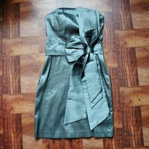 Metallic Bow Dress