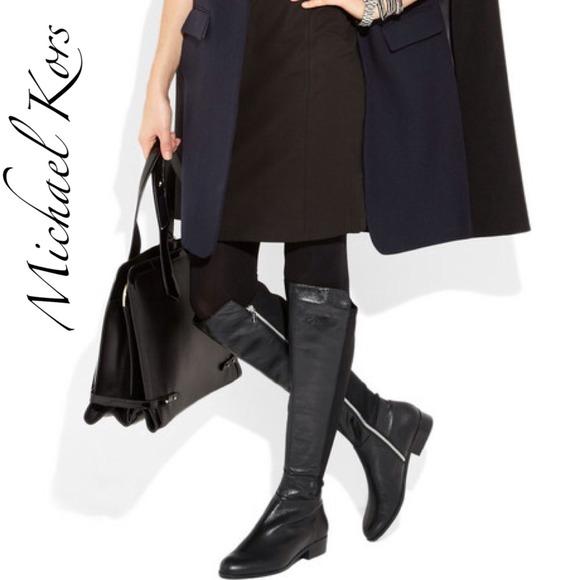 ec456d959127 MICHAEL Michael Kors Shoes | Was 200 Michael Kors Black Leather Flat ...
