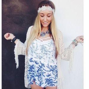LF Dresses - Lf lace blue floral romper