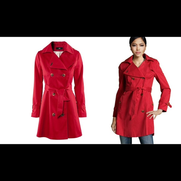 100 off h m outerwear h m apple red trench coat from. Black Bedroom Furniture Sets. Home Design Ideas