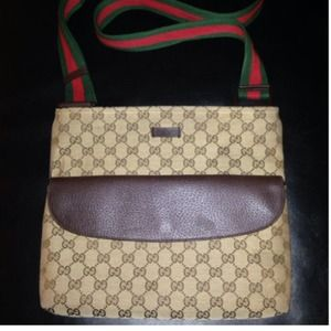 Gucci Monogram Crossbody/Messenger Bag
