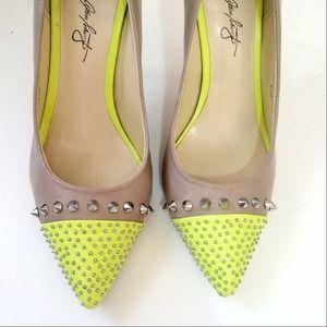 Neon & Nude spike heels