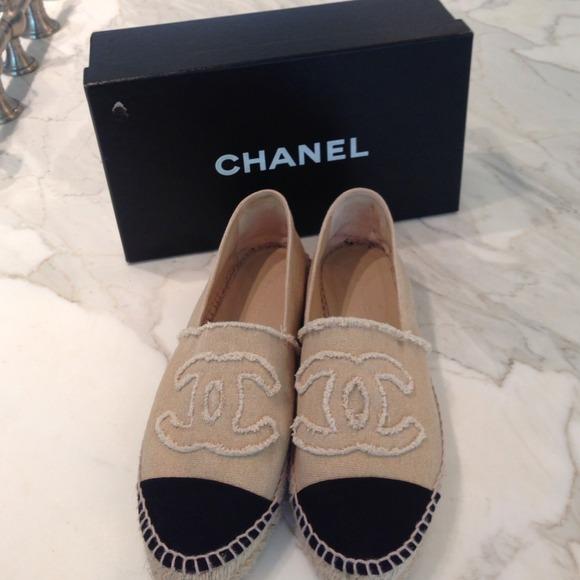 31 chanel shoes chanel espadrilles black