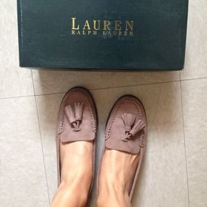 Ralph Lauren Shoes - Ralph Lauren • Taupe swede loafers