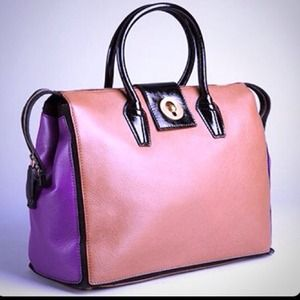 Brand new YSL Brown&Purple Muse Two Cabas Tote Bag