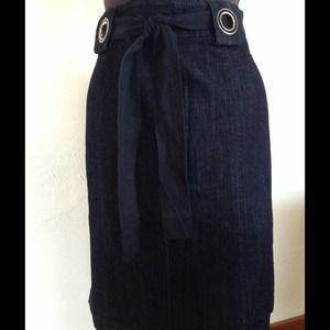 Anne Klein Dresses & Skirts - ANNE KLEIN Stretch Dark Denim Pencil Skirt
