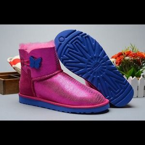Ugg Mini Bailey Button Butterfly Boots