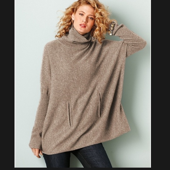 75% off Garnet Hill Sweaters - Cashmere Blend Oversized Sweater ...