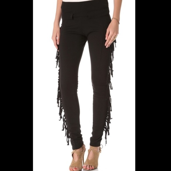 b0116e8307032 One Teaspoon Pants | Faded Love Black Fringe Leggings Xs | Poshmark