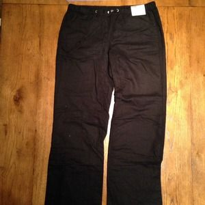 New York and Co black linen pant