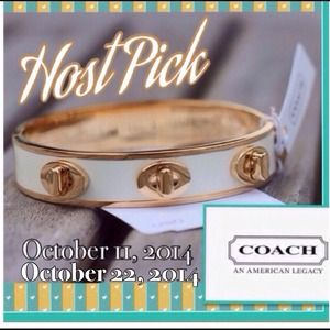 "⭐️2X•HP⭐️Coach 1/2"" Turn Lock Bangle"