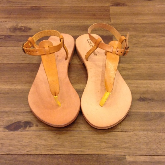 b741e885768a4d Cocobelle Italian Leather Mustard Sandal