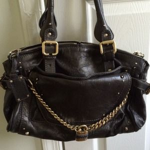 AUTHENTIC Chloe Paddington Black Leather Bag