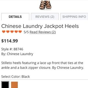 Chinese Laundry Shoes - Chinese Laundry Lace Up Heels