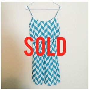 Dresses & Skirts - SOLD In Bundle🔻🔻Teal Broken Chevron Print Dress