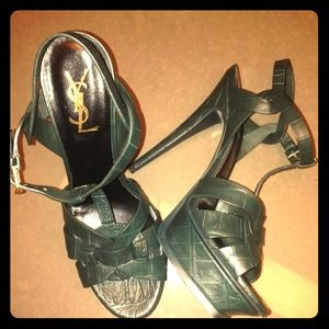 YSL Tribute Green Croc