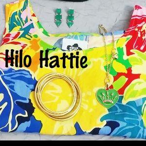 HILO HATTIE floral dress. Size L.