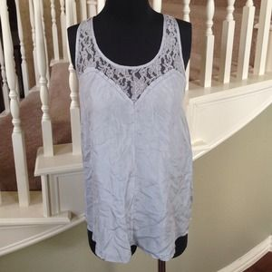 Buffalo Tops - Gray Silk & Lace Top