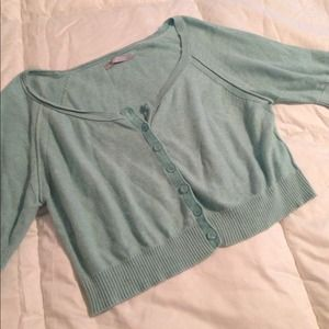 Seafoam short cardigan