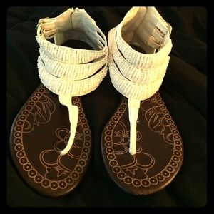 Traffic Shoes - REDUCED PRICE! Super cute white sandals!!!!🎀🎀🎀