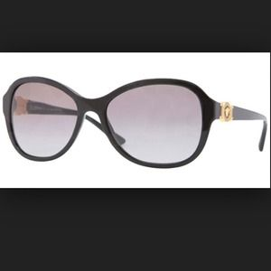 Black Versace polarized sunglasses