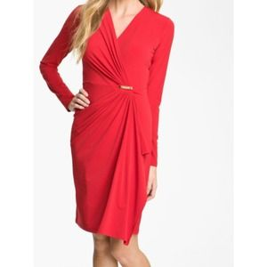 Michael Kors size S red wrap dress.