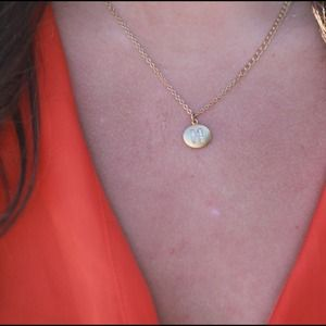 BaubleBar Jewelry - 'M' initial necklace!