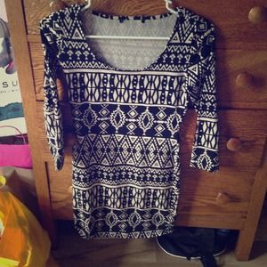 Forever 21 Aztec body con dress
