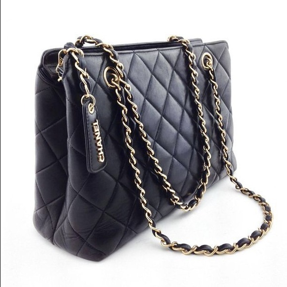 CHANEL - CHANEL Black Quilted Leather Classic Zipper Bag from ...