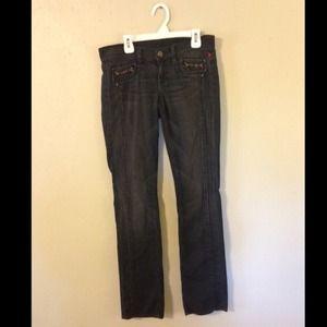 Black 7FAM Jeans