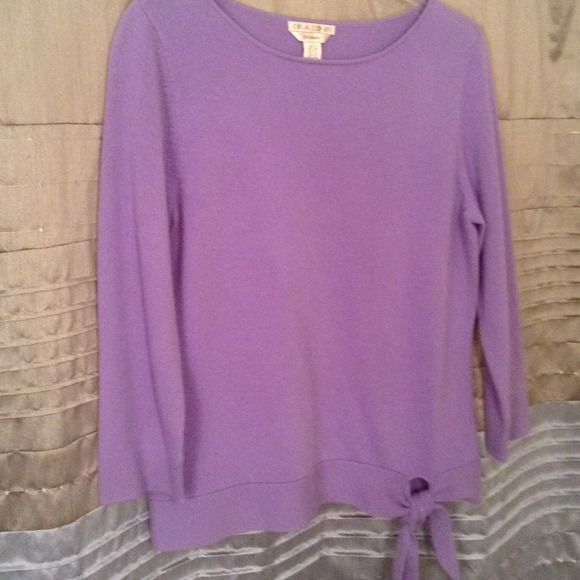 75% off Casual Corner Sweaters - Lavender cashmere sweater from ...