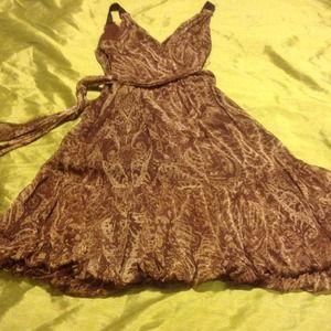 BCBG Brown Size 2 Low Cut Dress
