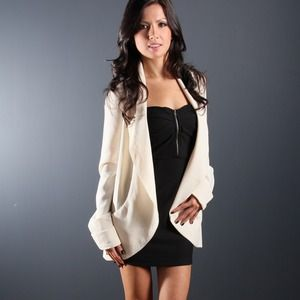 Jackets & Blazers - Cream Oversized Blazer