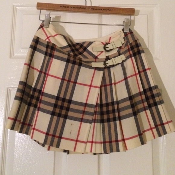 92% off Burberry Dresses & Skirts - BURBERRY plaid skirt. from ...