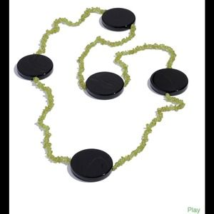 Jewelry - Black Agate, Hebei Peridot Endless Necklace
