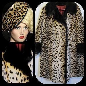 Spectacular vintage Dell Mann fur leopard coat