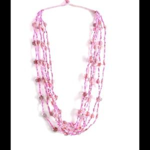 Jewelry - Glass Bead Threaded Necklace