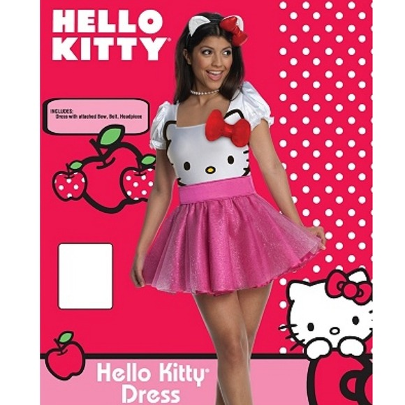 10b4bc684 Other | Cute Hello Kitty Adult Costume Dress | Poshmark