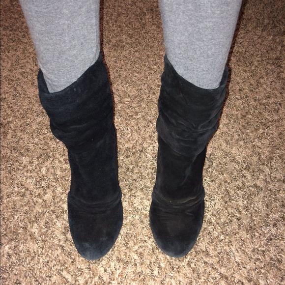 1084bf4521a Black suede Jessica Simpson Cornelia booties!!!
