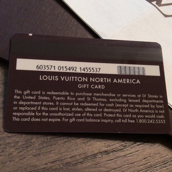 Louis Vuitton - Louis Vuitton Gift Card $514.10 from Sandra's ...