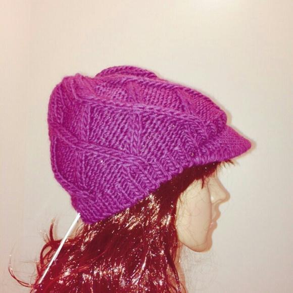 5a7a8b4935d Aqua brand plum knit hat - Bloomingdales